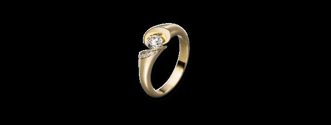 """Spannring Schaffrath Calla """"Onefold"""" aus 750 Gelbgold mit 8 Brillanten (0,22 Karat)"""