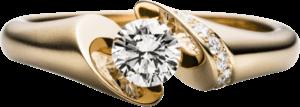 """Spannring Schaffrath Calla """"Onefold"""" aus 750 Gelbgold mit 8 Brillanten (0,79 Karat)"""