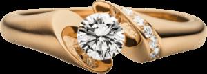 """Spannring Schaffrath Calla """"Onefold"""" aus 750 Roségold mit 8 Brillanten (0,57 Karat)"""