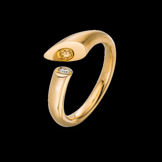 Ring Schaffrath Calla aus 750 Gelbgold mit 1 Brillant (0,05 Karat)