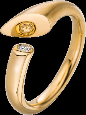 Ring Schaffrath Calla aus 750 Gelbgold mit 2 Brillanten (0,05 Karat)