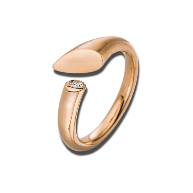 Ring Schaffrath Calla aus 750 Roségold mit 1 Brillant (0,05 Karat)
