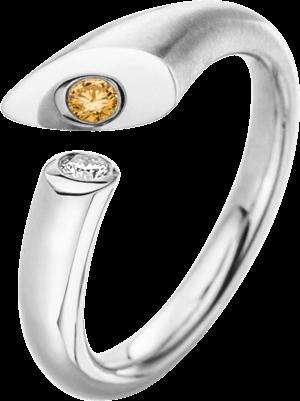 Ring Schaffrath Calla aus 750 Weißgold mit 1 Brillant (0,05 Karat)