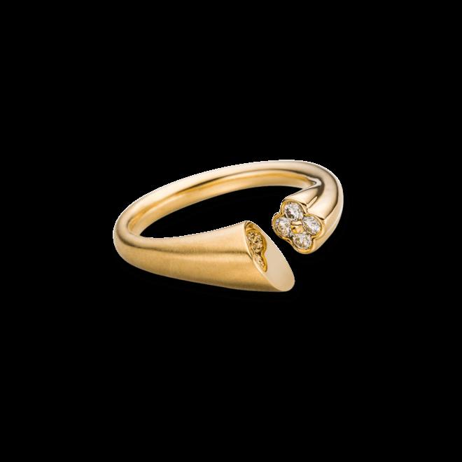 Ring Schaffrath Calla aus 750 Gelbgold mit 4 Brillanten (0,15 Karat)