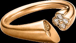 Ring Schaffrath Calla aus 750 Roségold mit 4 Brillanten (0,15 Karat)