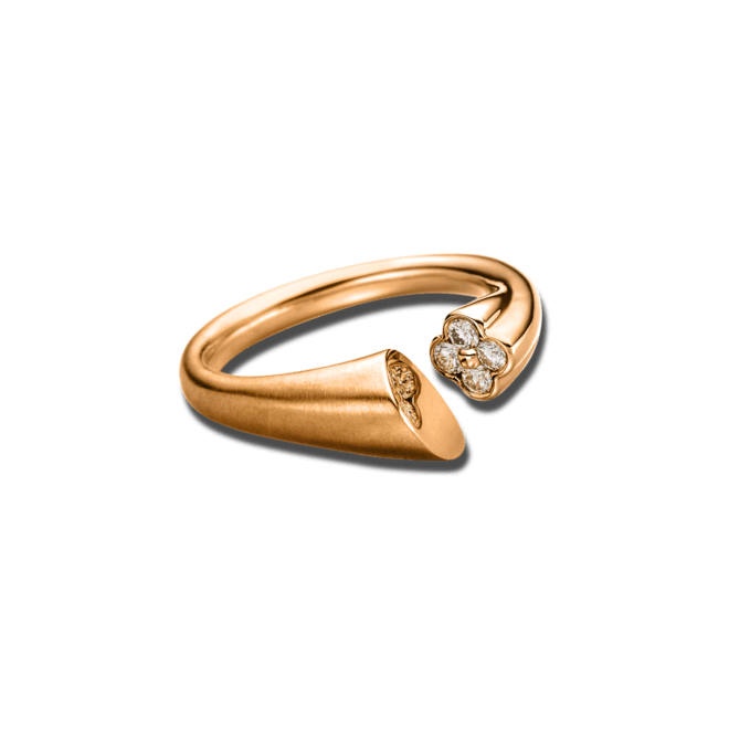 Ring Schaffrath Calla aus 750 Roségold mit 4 Brillanten (0,24 Karat)