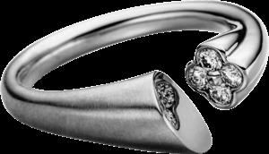 Ring Schaffrath Calla aus 750 Weißgold mit 4 Brillanten (0,15 Karat)