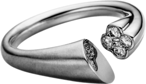 Ring Schaffrath Calla aus 750 Weißgold mit 4 Brillanten (0,24 Karat)