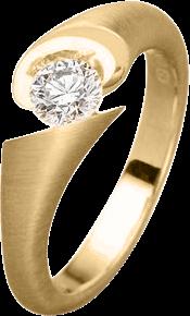 Ring Schaffrath Calla aus 750 Gelbgold mit 1 Brillant (0,1 Karat)