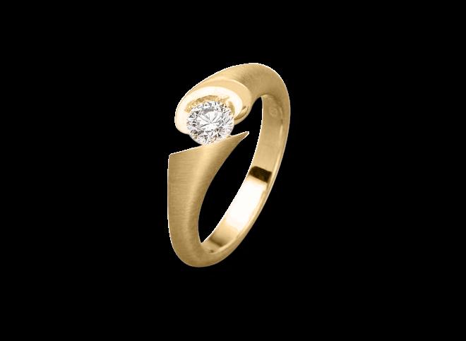 Ring Schaffrath Calla aus 750 Gelbgold mit 1 Brillant (0,1 Karat) bei Brogle