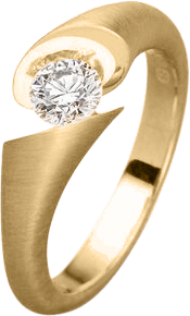 Ring Schaffrath Calla aus 750 Gelbgold mit 1 Brillant (0,15 Karat)