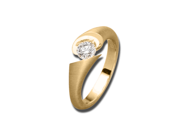 Ring Schaffrath Calla aus 750 Gelbgold mit 1 Brillant (0,15 Karat) bei Brogle