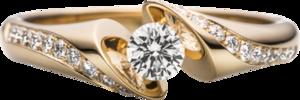 """Ring Schaffrath Calla """"Supreme"""" aus 750 Gelbgold mit 21 Brillanten (0,43 Karat)"""