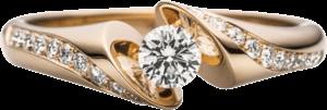 """Ring Schaffrath Calla """"Supreme"""" aus 750 Roségold mit 21 Brillanten (0,35 Karat) Größe 53"""