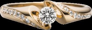 """Spannring Schaffrath Calla """"Supreme"""" aus 750 Gelbgold mit 21 Brillanten (0,36 Karat)"""