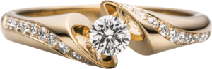 """Spannring Schaffrath Calla """"Supreme"""" aus 750 Gelbgold mit 21 Brillanten (0,42 Karat)"""