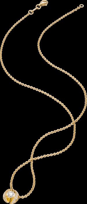 """Halskette mit Anhänger Schaffrath Calla """"Twofold"""" aus 750 Gelbgold mit 15 Brillanten (0,28 Karat)"""