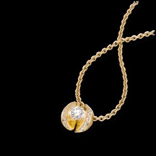 """Schaffrath Halskette mit Anhänger Calla """"Twofold"""" CALLX-C-GG-0.79GSI-42"""