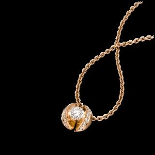 """Schaffrath Halskette mit Anhänger Calla """"Twofold"""" CALLX-C-RG-0.28GSI-42"""