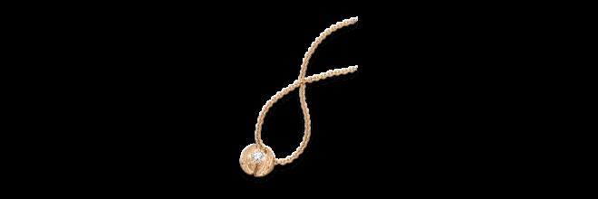 """Halskette mit Anhänger Schaffrath Calla """"Twofold"""" aus 750 Roségold mit 15 Brillanten (0,49 Karat)"""