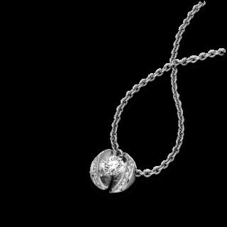 """Schaffrath Halskette mit Anhänger Calla """"Twofold"""" CALLX-C-WG-0.34GSI-42"""