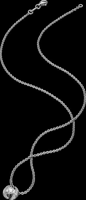 """Halskette mit Anhänger Schaffrath Calla """"Twofold"""" aus 750 Weißgold mit 15 Brillanten (0,79 Karat)"""