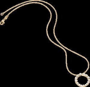 Halskette mit Anhänger Schaffrath Classics aus 750 Gelbgold mit 15 Brillanten (0,87 Karat)