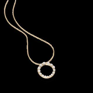 Schaffrath Halskette mit Anhänger Classics 27414-C-GG-0.87GVS-42
