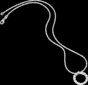 Halskette mit Anhänger Schaffrath Classics aus 750 Weißgold mit 15 Brillanten (0,87 Karat)