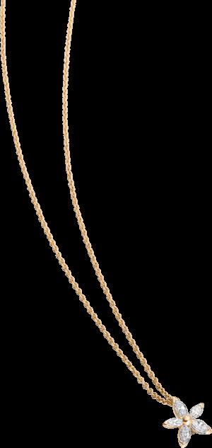 Halskette mit Anhänger Schaffrath Classics aus 750 Gelbgold mit 5 Diamanten (0,22 Karat)