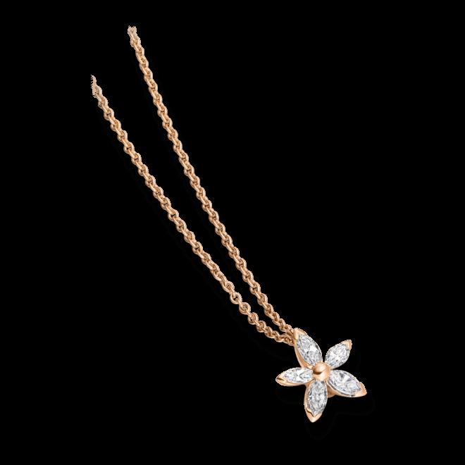 Halskette mit Anhänger Schaffrath Classics aus 750 Roségold mit 5 Diamanten (0,22 Karat)