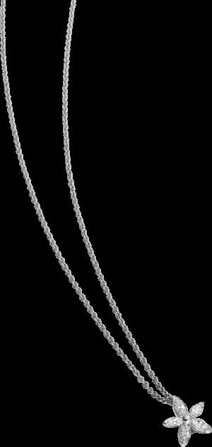 Halskette mit Anhänger Schaffrath Classics aus 750 Weißgold mit 5 Diamanten (0,22 Karat)