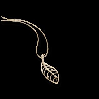 Schaffrath Halskette mit Anhänger Leaf 27601-C-GG-0.255GVS-70