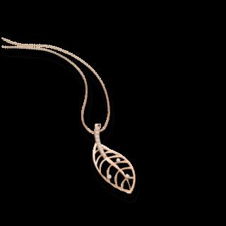 Schaffrath Halskette mit Anhänger Leaf 27601-C-RG-0.255GVS-70
