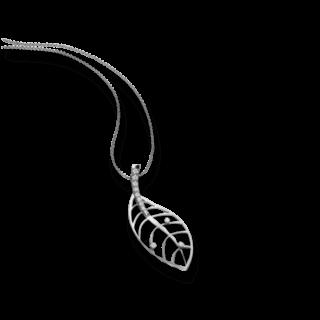 Schaffrath Halskette mit Anhänger Leaf 27601-C-WG-0.255GVS-70