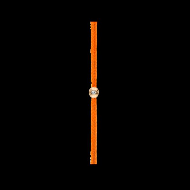 Armband Schaffrath Colortaire Flame Orange aus 750 Gelbgold und Textil mit 1 Brillant (0,015 Karat)