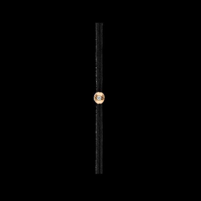 Armband Schaffrath Colortaire Midnight aus 750 Gelbgold und Textil mit 1 Brillant (0,015 Karat) bei Brogle