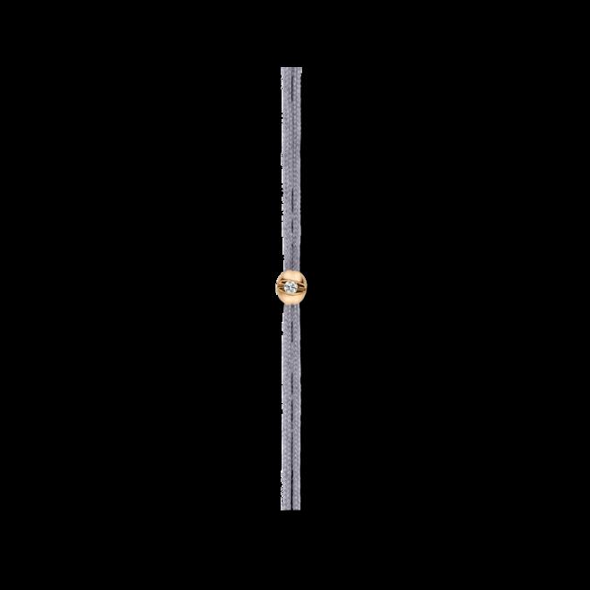 Armband Schaffrath Colortaire Shadow Grey aus 750 Gelbgold und Textil mit 1 Brillant (0,015 Karat) bei Brogle