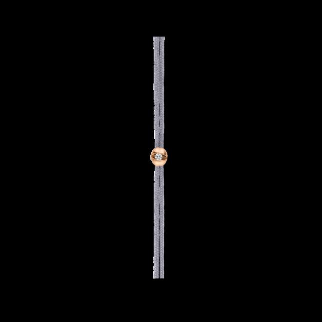 Armband Schaffrath Colortaire Shadow Grey aus 750 Roségold und Textil mit 1 Brillant (0,015 Karat)