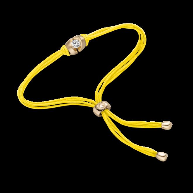 Armband Schaffrath Colortaire Sunflower aus 750 Gelbgold und Textil mit 1 Brillant (0,12 Karat) bei Brogle