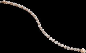 """Armband Schaffrath Liberté """"Das Zeitlose"""" aus 750 Roségold und 800 Platin mit 33 Brillanten (6,5 Karat)"""