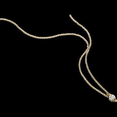 """Schaffrath Halskette mit Anhänger Liberté """"Der Freizügige"""" L2003-C-GG-0.30GSI-42"""
