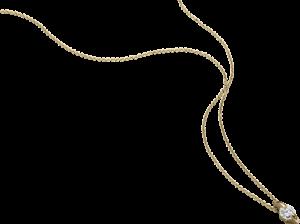 """Halskette mit Anhänger Schaffrath Liberté """"Der Freizügige"""" aus 750 Gelbgold mit 1 Brillant (0,3 Karat)"""