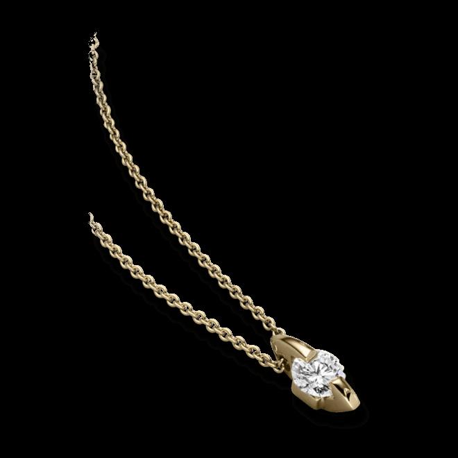 """Halskette mit Anhänger Schaffrath Liberté """"Der Freizügige"""" aus 750 Gelbgold mit 1 Brillant (1 Karat)"""