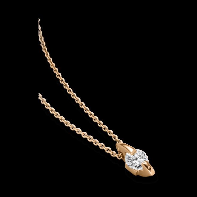 """Halskette mit Anhänger Schaffrath Liberté """"Der Freizügige"""" aus 750 Roségold mit 1 Brillant (0,4 Karat)"""