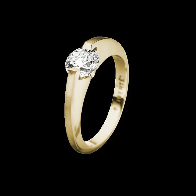 """Ring Schaffrath Liberté """"Der Kompromisslose"""" aus 750 Gelbgold mit 1 Brillant (0,5 Karat)"""