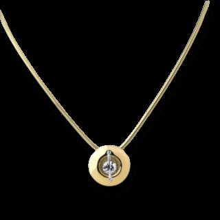 """Schaffrath Halskette mit Anhänger Liberté """"Der Schöne"""" L1050-C-GG-0.32GSI-42"""