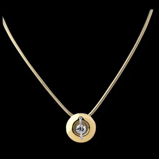 """Halskette mit Anhänger Schaffrath Liberté """"Der Schöne"""" aus 750 Gelbgold und 800 Platin mit 3 Brillanten (0,32 Karat)"""