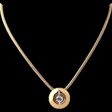 """Schaffrath Halskette mit Anhänger Liberté """"Der Schöne"""" L1050-C-RG-0.32GSI-42"""