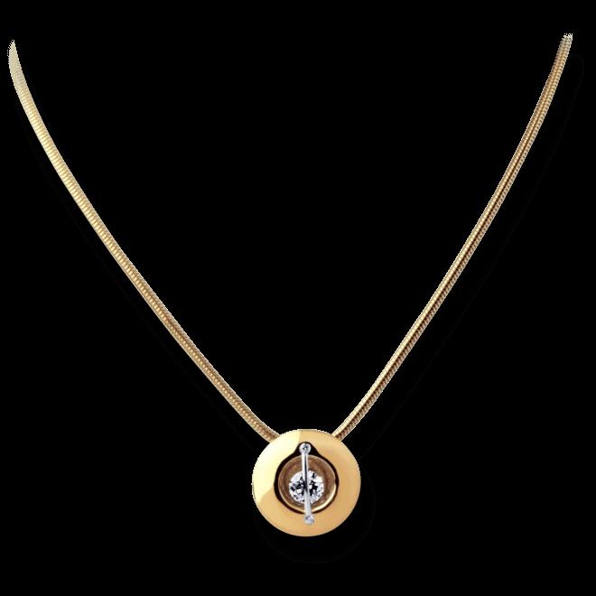 """Halskette mit Anhänger Schaffrath Liberté """"Der Schöne"""" aus 750 Roségold und 800 Platin mit 3 Brillanten (0,32 Karat)"""